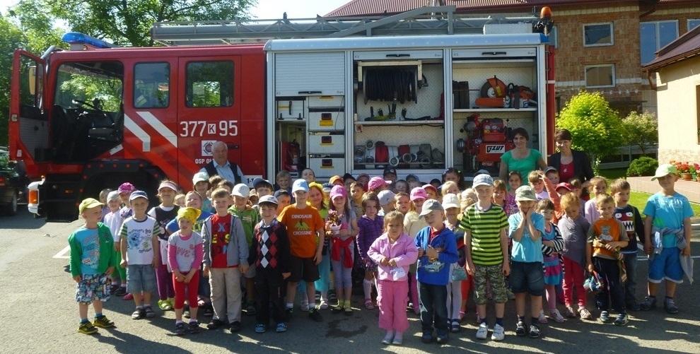 Wycieczka do Ochotniczej Straży Pożarnej w Ołpinach
